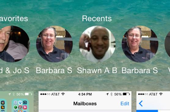 iOS 8's Favorites & Recents: A fast way to get in touch