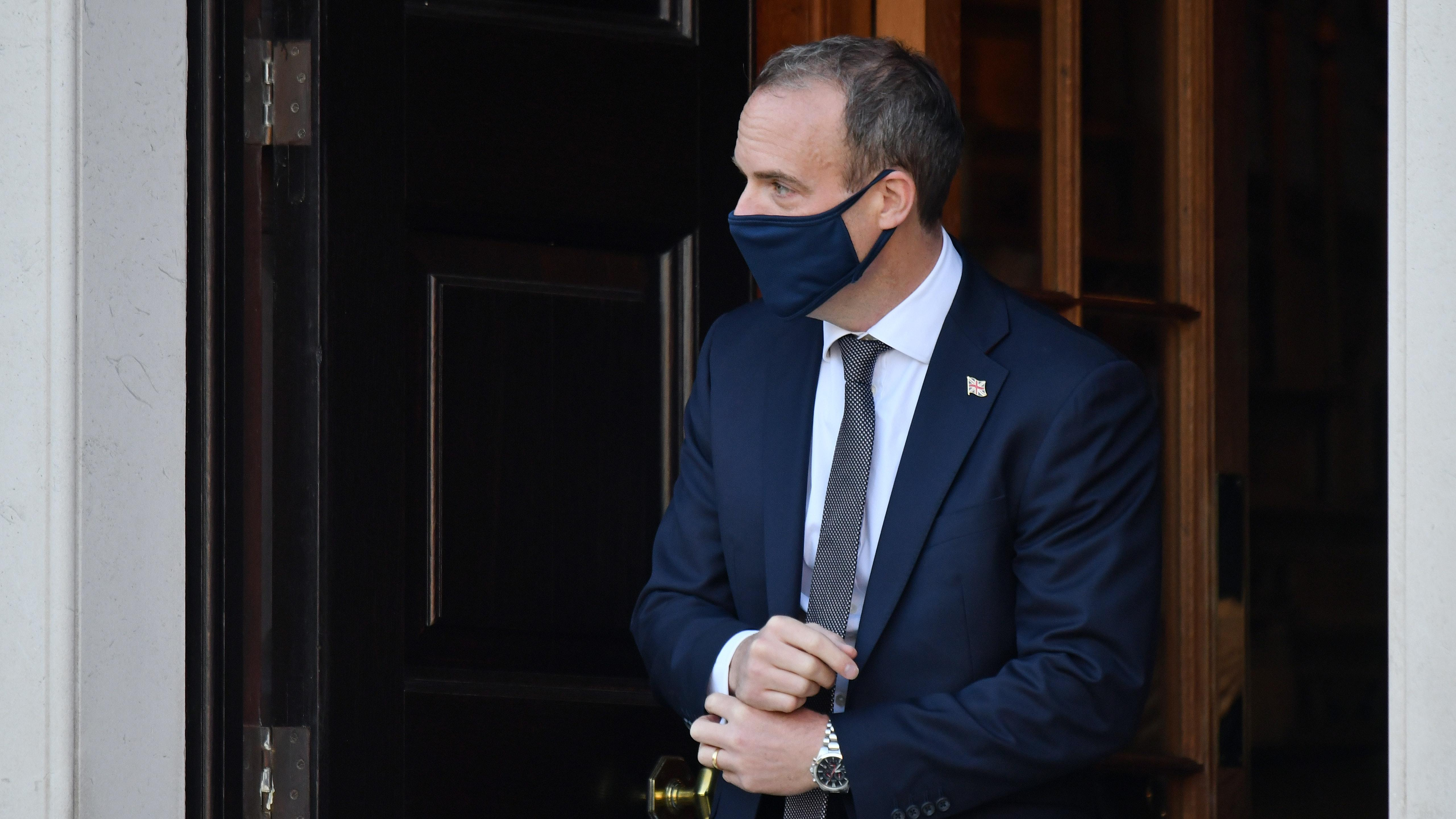 Foreign Secretary Raab self-isolates after Covid contact amid US chaos