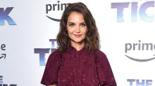 Katie Holmes Looks Perfect in Plum at 'The Tick' Premiere, Muses About Daughter Suri's Teenage Years