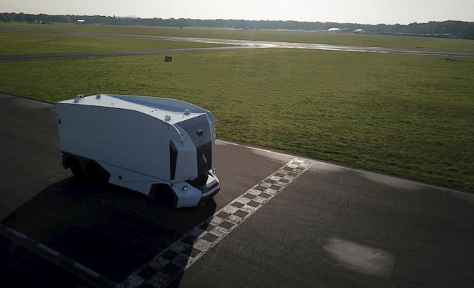 Einride Pod on the Top Gear track