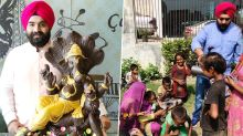 Chocolate Ganpati Immersion in Ludhiana: After Unique Visarjan, Milkshake Distributed to Underprivileged Children