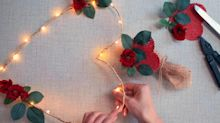 Make This Illuminated Heart Wreath for Valentine's Day