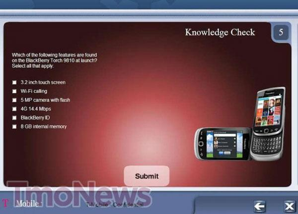T-Mobile internal doc leaks, BlackBerry Torch 9810 to bow this November?