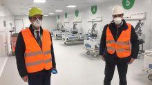 """Ospedale Fiera a Milano, Fontana: """"Qualcosa di davvero grande"""""""