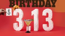 #ChilisBirthday is Back, Baby Back, Baby Back on 3/13 with $3.13 Presidente Margaritas