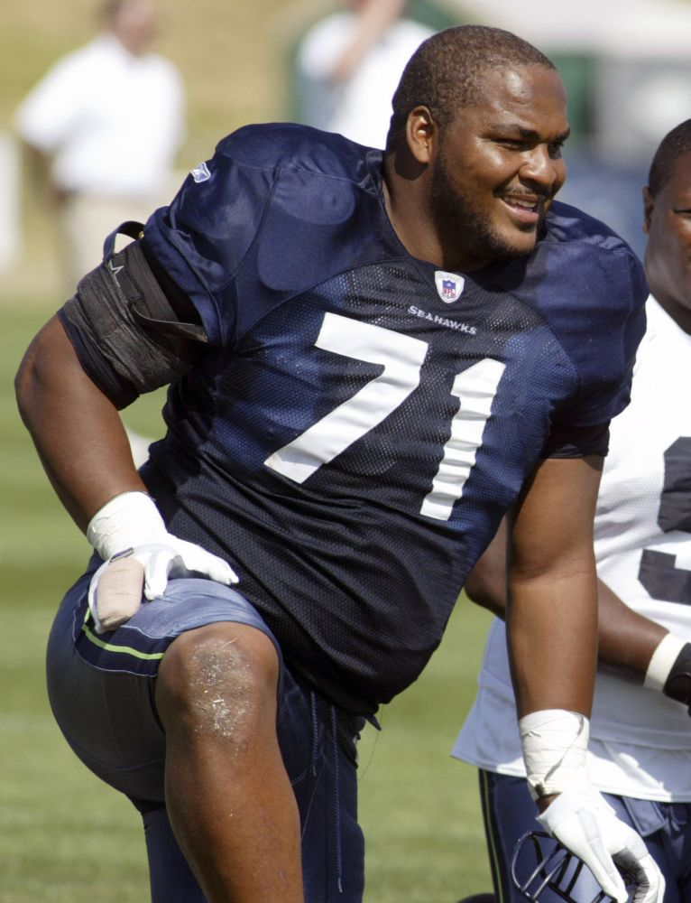 Seahawks OT Jones inducted into Hall of Fame