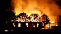 Ukraine military barracks burn on eve of self-rule referendum