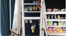 日本網民好物推介 座地鏡內藏大型飾物櫃