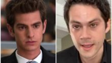 Andrew Garfield reacts to Dylan O'Brien's performance of his Social Network character