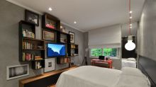 10 Boas ideias para organizar a TV no seu quarto