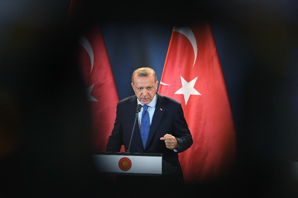 Media reports said the government of Turkish President Recep Tayyip Erdogan sought permission from Saudi authorities to search the consulate premises in Istanbul. (AFP Photo/ATTILA KISBENEDEK)