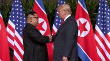 US President Donald Trump meets North Korean leader Kim Jong Un in historic summit