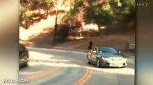 Police are looking for guy filmed driving in reverse through L.A.