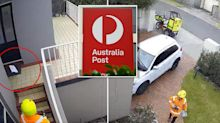 Australia Post delivery driver throws parcel in shocking video