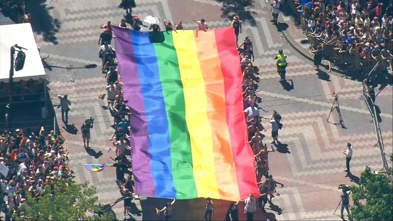 LGBTQ pride marches marked by protests across the U.S.