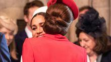 Kate Middleton y Meghan Markle zanjan con un beso los rumores sobre su enfrentamiento
