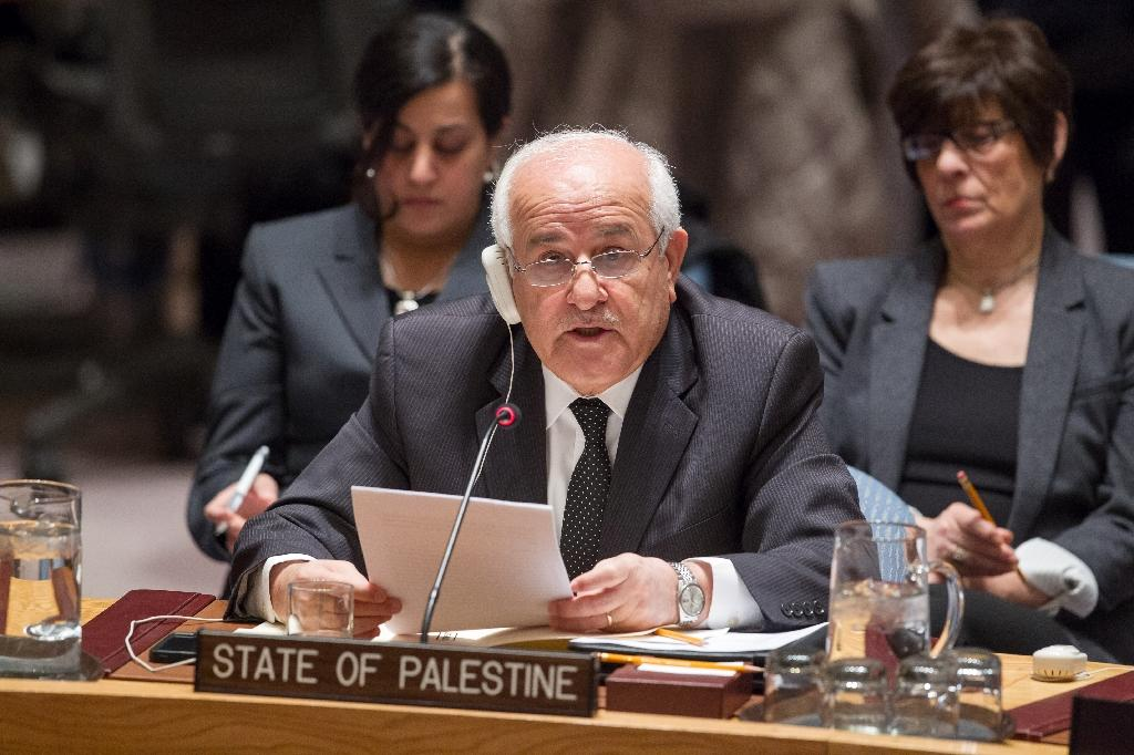Riyad H. Mansour, Permanent Observer of the State of Palestine to the United Nations, addresses the meeting on the situation in the Middle East and Palestine January 26, 2016