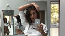 Emily Ratajkowski's back at it with another super-skimpy selfie