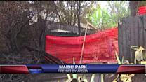 Officials Suspect Park Fire Was Arson