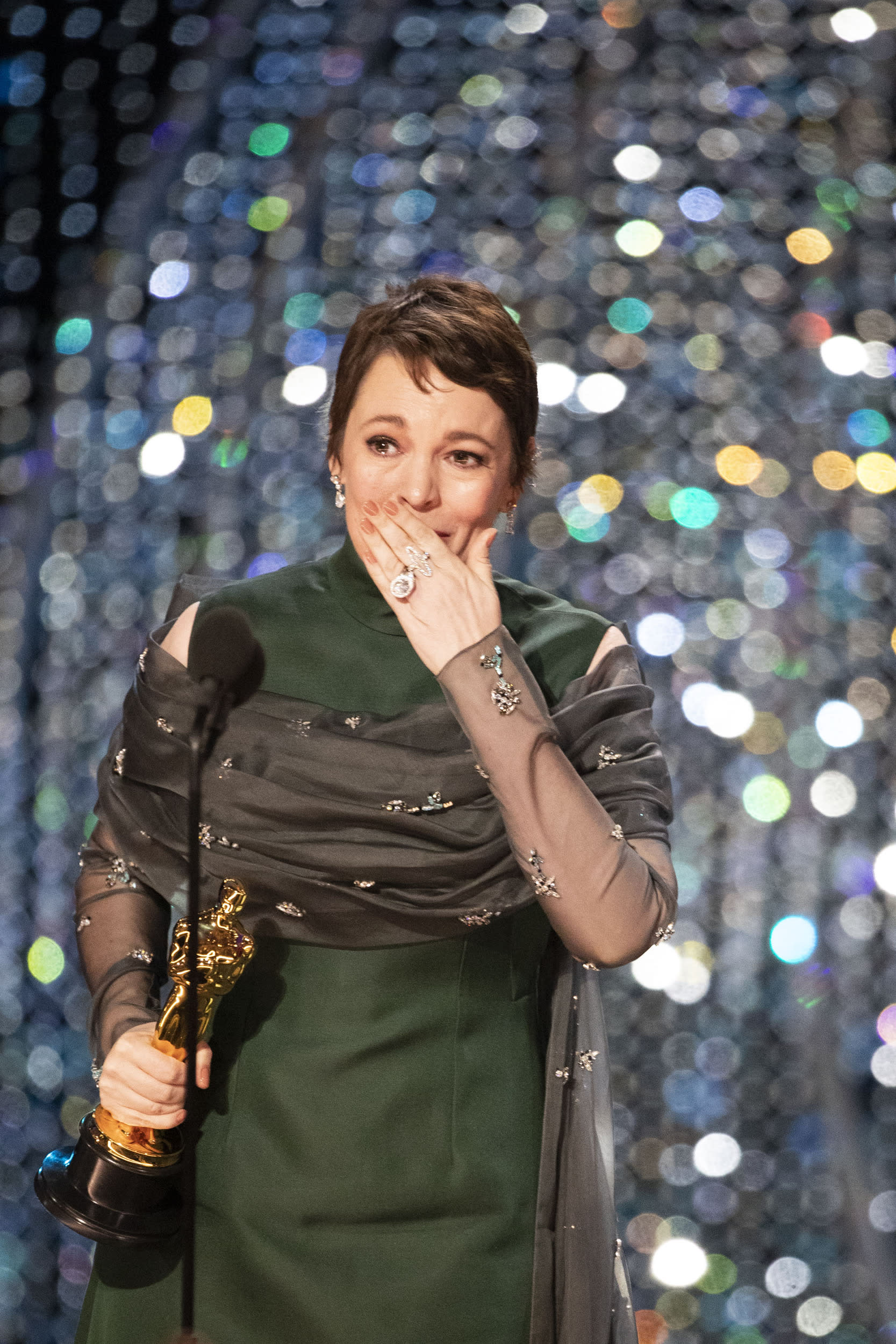 THE OSCARS® - The 91st Oscars® broadcasts live on Sunday, Feb. 24, 2019, at the Dolby Theatre® at Hollywood & Highland Center® in Hollywood and will be televised live on The ABC Television Network at 8:00 p.m. EST/5:00 p.m. PST.  (Craig Sjodin via Getty Images) OLIVIA COLMAN