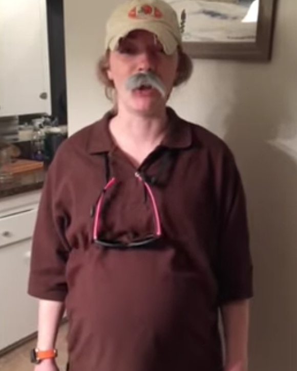 3ae9e8efaad Pregnant Cleveland Browns fan and true Ohioan dresses up as Bob Wylie for  Halloween