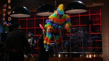 LL Cool J, Kaley Cuoco Bash Piñata-Costumed Corden