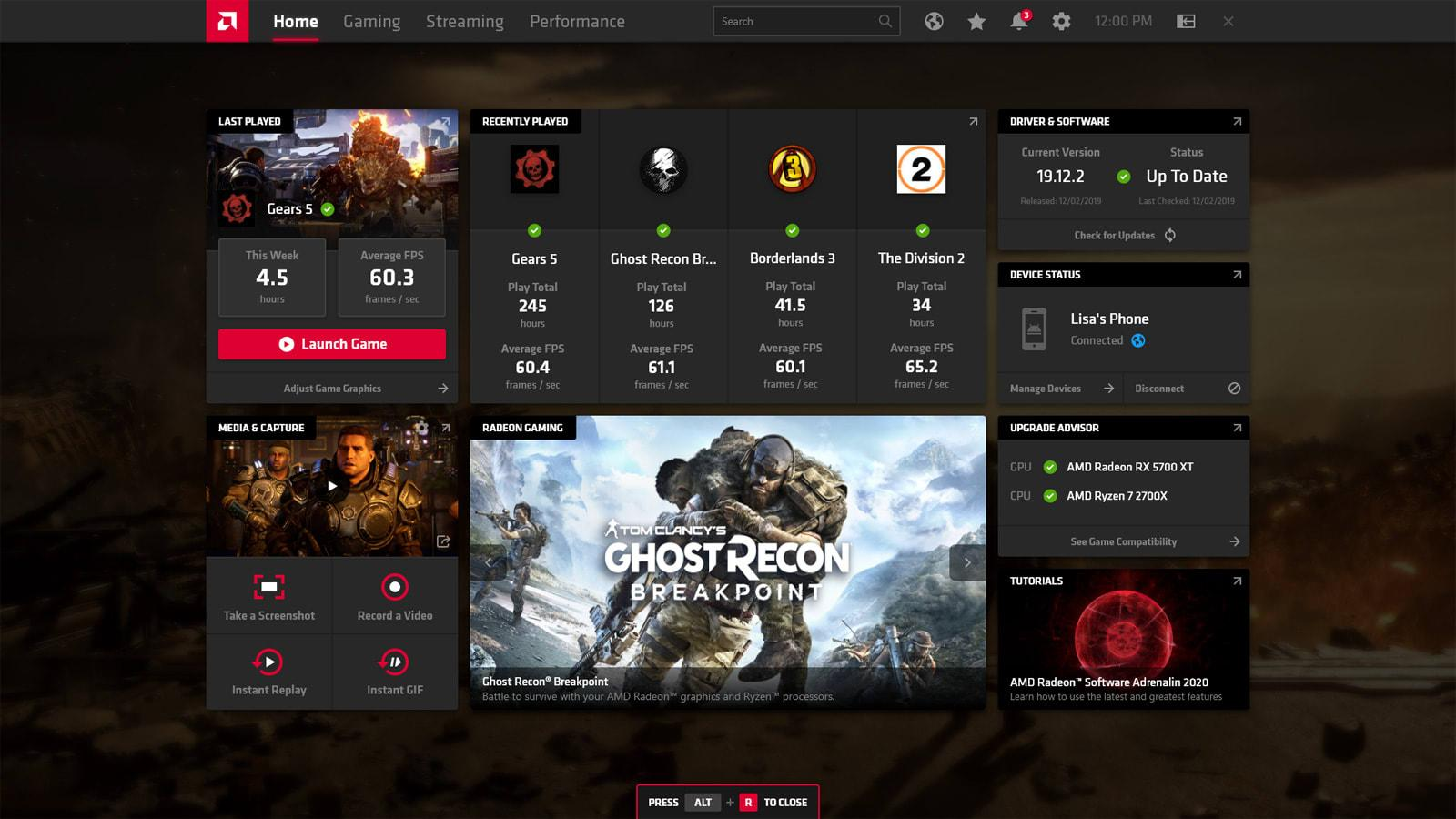 AMD's new Radeon software offers game streaming away from home