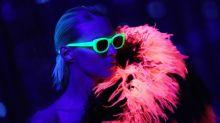 Saint Laurent showcases glow-in-the-dark dresses at Paris Fashion Week