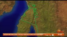 Pilot causes stir after writing out 'i'm bored' on flight path