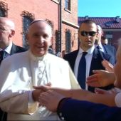 Pope Francis visits Lagiewniki sanctuary in Krakow