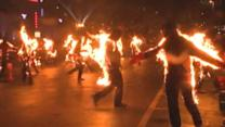 Burning men: Fiery group sets world record
