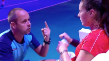 Tennis world erupts over coach's fiery mid-match pep-talk