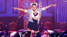 Kate Upton's Boobs Nearly FALL OUT While Impersonating Britney Spears on Lip Sync Battle