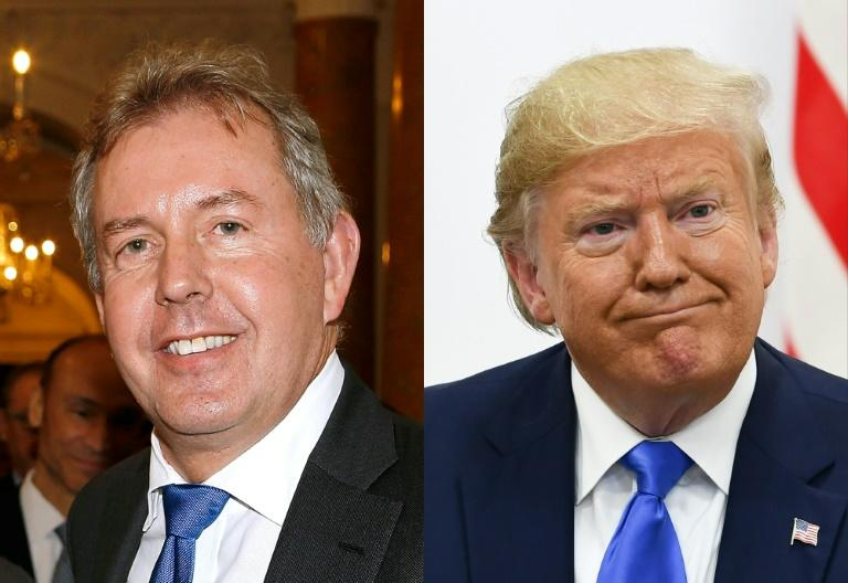 Kim Darroch (l) is to be made a Lord, despite being described Donald Trump as a 'very stupid guy'