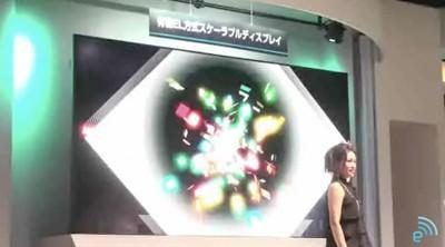 Mitsubishi's modular, scalable OLED display goes 155-inches at CEATEC, could go way bigger (video)
