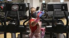 In pictures: Gyms and swimming pools reopen after lockdown