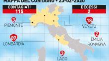 Oltre 130 contagi in 5 Regioni. Salta il Carnevale di Venezia