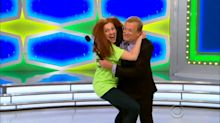 Drew Carey ambushed by a very excited fan on 'The Price Is Right'