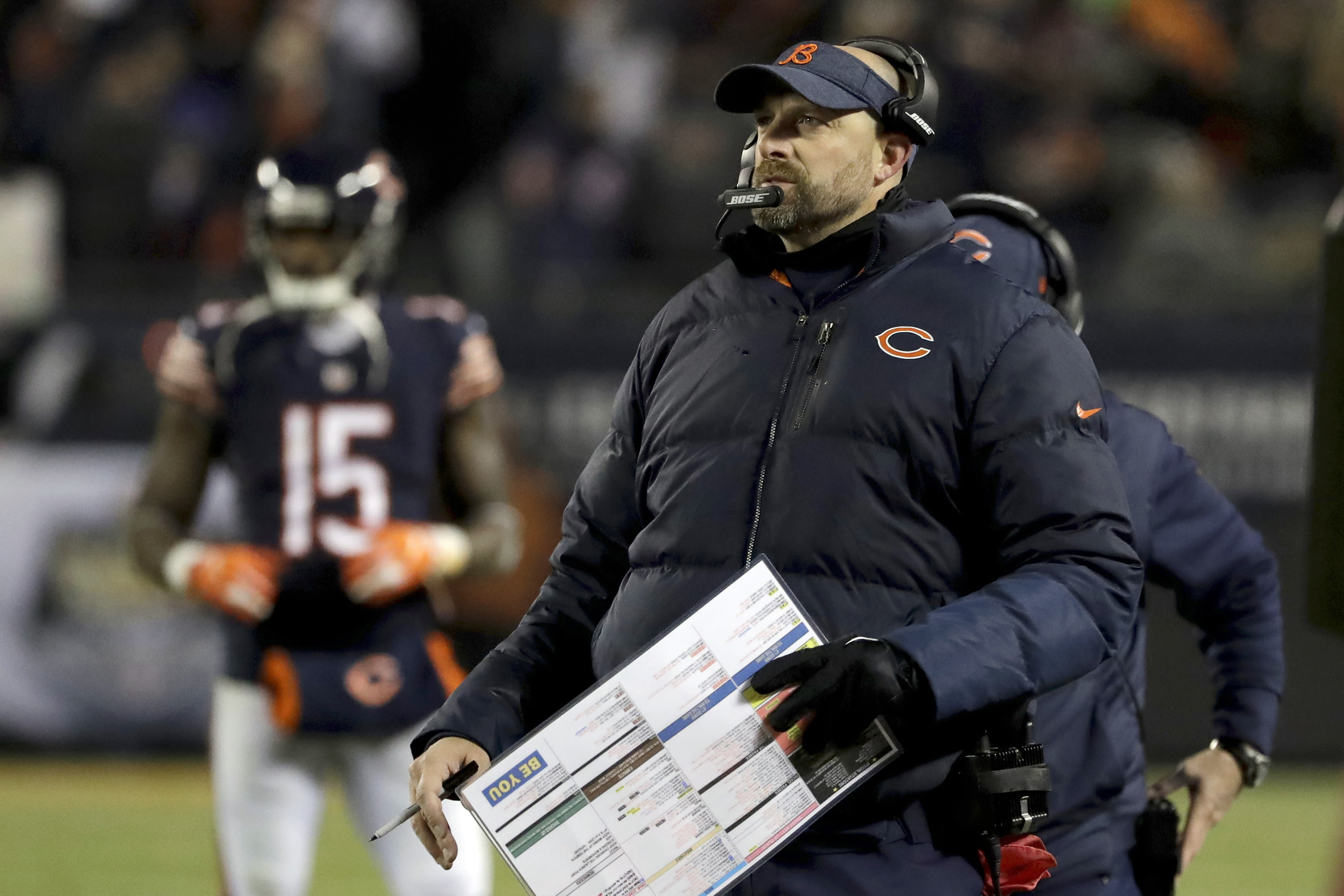 Matt Nagy has no fear, dials up a TD pass to an offensive lineman on third-and-goal