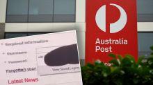 Bizarre message appears on Australia Post website