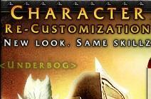 Character Re-Customization available for a small fee [UPDATED]