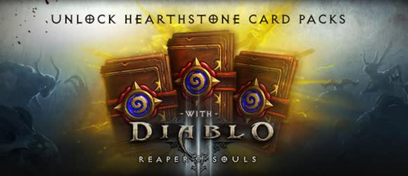 Diablo 3: Reaper of Souls offering Hearthstone expert card packs