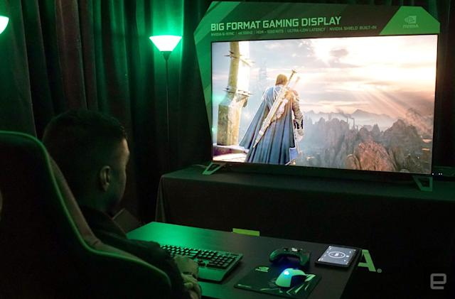 Hands-on with NVIDIA's giant gaming displays and GeForce Now on PC