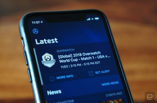 Blizzard esports app keeps you on top of league matches
