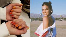 'Skittle nails': a tendência de unhas que conquistou Bruna Marquezine