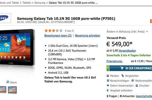 Samsung modifies tablet to satisfy German ruling, begins selling Galaxy Tab 10.1N (update: Samsung speaks)