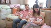Last of All-Girl Quintuplets Joins Sisters at Home