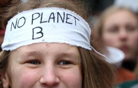 Belgian students claim for urgent measures to combat climate change during a demonstration in central Brussels, Belgium January 31, 2019. REUTERS/Yves Herman