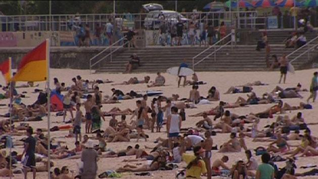 Sydney hit by 40 degree heat