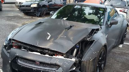 Teen who crashed speeding Nissan GT-R in car park jailed six weeks